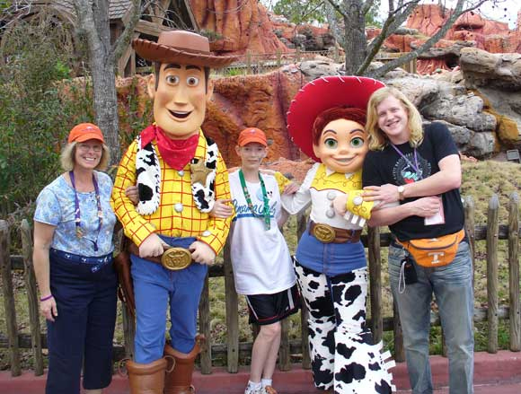 Brian, Brenda and Woody from Toy Story