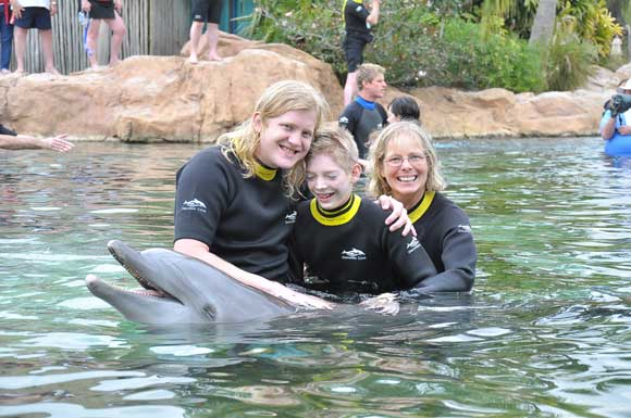 Brian and Brenda with the dolphin