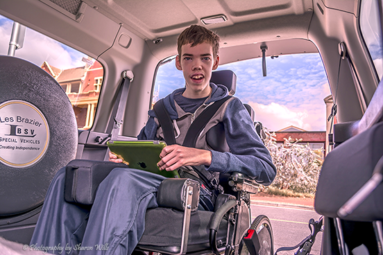 Jarod in his access vehicle
